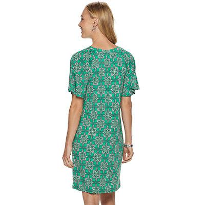 Women's Dana Buchman Raglan Short-Sleeve Shift Dress