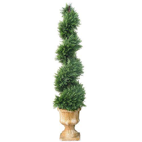 "National Christmas Tree Company 54"" Artificial Juniper Spiral Tree"