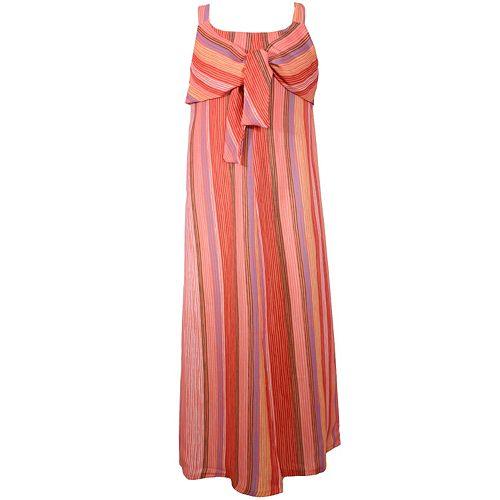 Girls 7-16 Bonnie Jean Striped Halter Maxi Dress