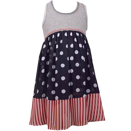 Girls 7-16 Bonnie Jean Patriotic Bow Dress