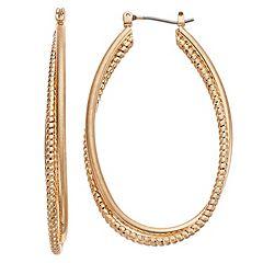 Simply Vera Vera Wang Oval Hoop Earrings