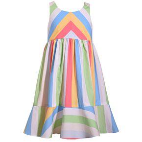 Girls 7-16 Bonnie Jean Mitered Stripe Tank Dress