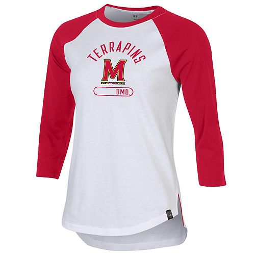 Women's Under Armour Maryland Terrapins Performance Baseball Tee