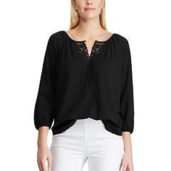 Women's Chaps Lace-Inset Top