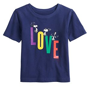 "Baby Family Fun? Peanuts Snoopy ""Love"" Graphic Tee"