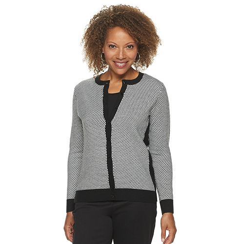 Petite Croft & Barrow® Button Front Cardigan