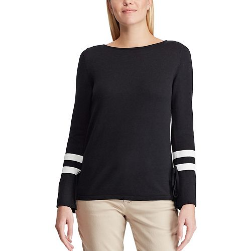 Women's Chaps Striped Bell-Sleeve Sweater