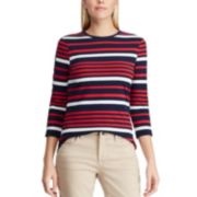 Women's Chaps Varigated-Stripe Crewneck Tee