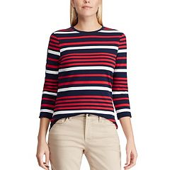 Women's Chaps Varigated-Stripe Crewneck Tee