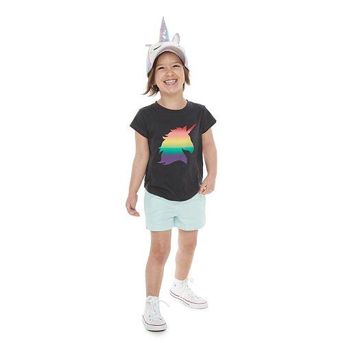 Toddler Girl Family Fun™ Unicorn Rainbow Pride Graphic Tee