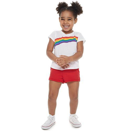 Toddler Girl Family Fun™ Rainbow Pride Graphic Tee