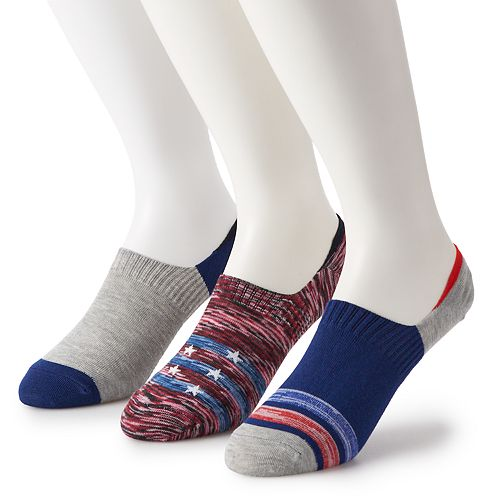 Men's Socks4you 3-pack Patterned Liner Socks