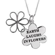 Eco-Friendly Sterling Silver Flower Pendant