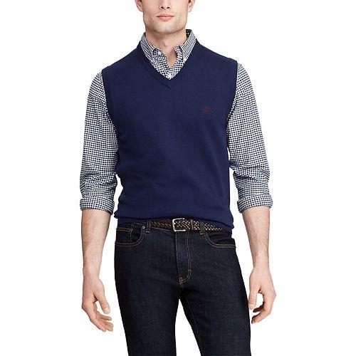 Big & Tall Chaps V-Neck Sweater Vest