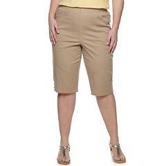 Plus Size Croft & Barrow® Rivet Hem Pull-On Skimmers