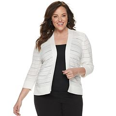 06646fa46290 Womens Plus Cardigan Sweaters - Tops, Clothing | Kohl's