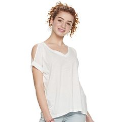249c34a700ac13 Juniors Cold Shoulder Tops, Clothing | Kohl's