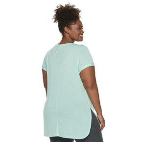 Plus Tek Gear® Rolled Sleeve High Slit Tunic Tee