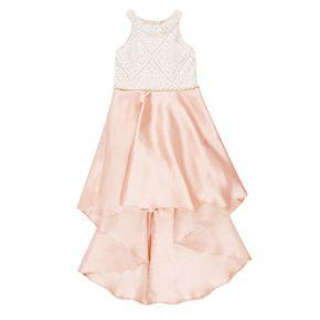 Girls 7-16 Speechless High-Low Lace Bodice Dress