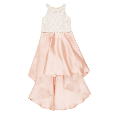 Girls 7-16 Speechless High-Low Lace Bodice Dress