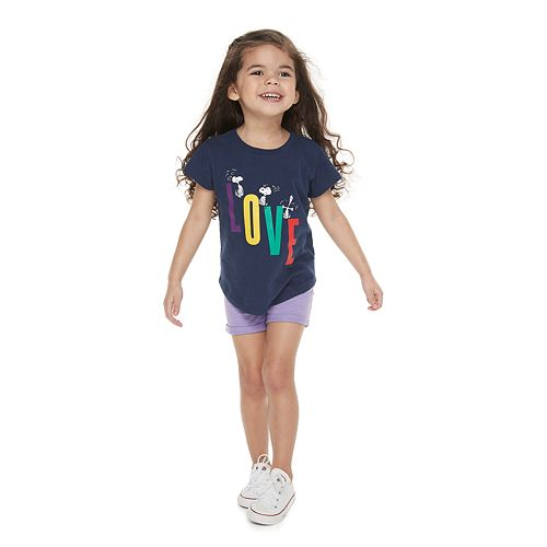 """Toddler Girl Family Fun™ Peanuts Snoopy """"Love"""" Graphic Tee"""
