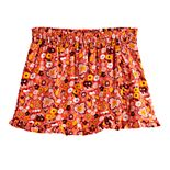 Girls 7-16 Four Threads Smocked Floral Challis Skort