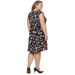 Plus Size Suite 7 Print Fit & Flare Dress