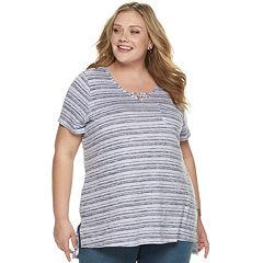 04fed831e6475a Plus Size SONOMA Goods for Life™ Knit Pocket Tunic Tee with Neckline Strap  Shirt