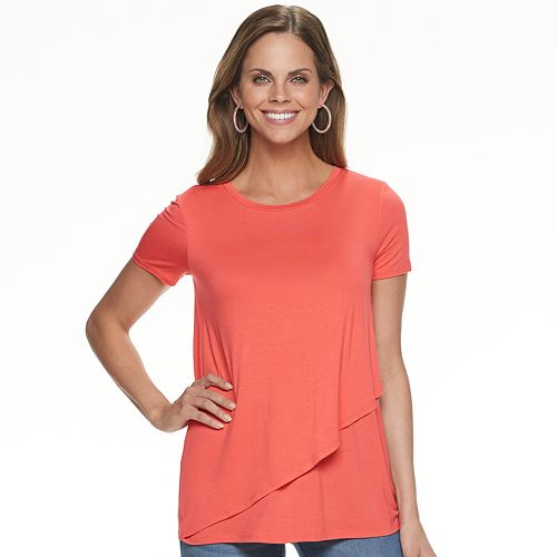 Maternity a:glow Asymmetrical Tulip Nursing Top