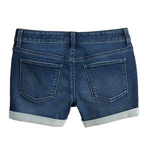 Girls 7-16 SO® Midrise Cuffed Jean Shorts