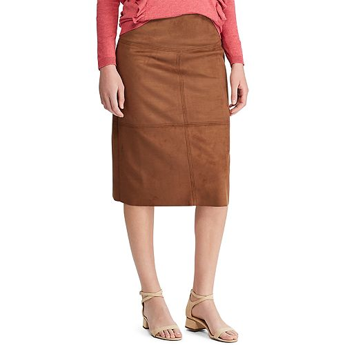 Women's Chaps Faux-Suede Skirt