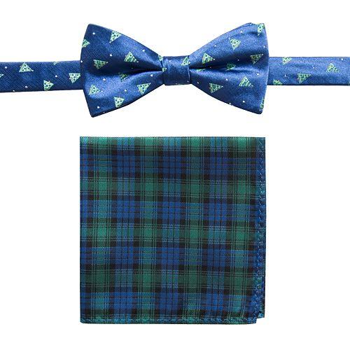 Men's Bow Tie & Pocket Square Set