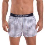 Men's Nick Graham Modern-Fit Patterned Cotton Boxer Briefs