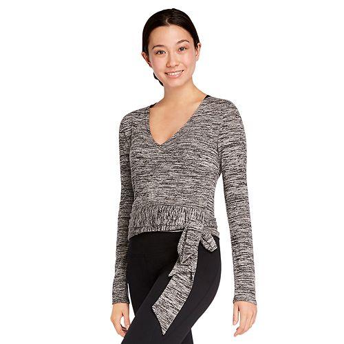 Womens' Danskin Long Sleeve Wrap Top