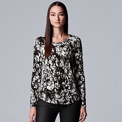 Women's Simply Vera Vera Wang Floral Flocked Tee