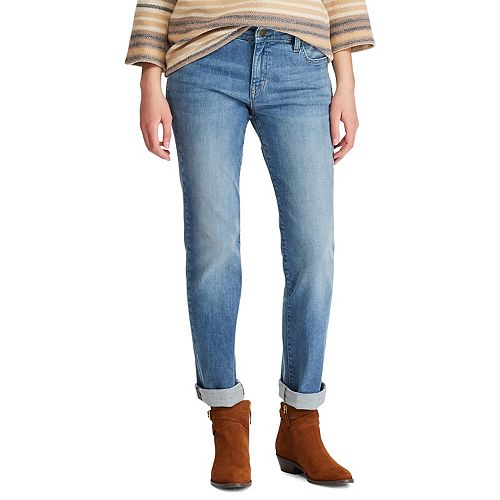 Women's Chaps Faded Boyfriend Jeans