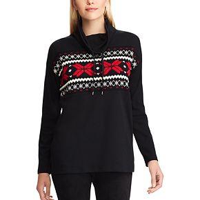 Women's Chaps Drawstring Turtleneck Sweatshirt