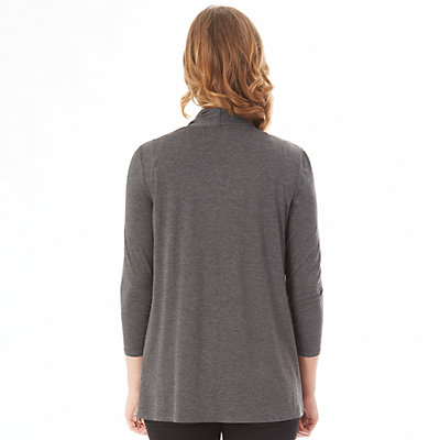 Petite Apt. 9® Ruched Sleeve Open-Front Cardigan