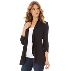 Petite Apt. 9® Ruched Sleeve Open-Front Cardigan c10ef81a5