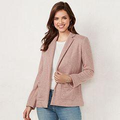 Women's LC Lauren Conrad Cozy Open-Front Knit Blazer