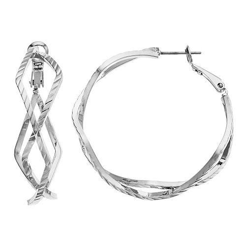 Simply Vera Vera Wang Overlap Hoop Earrings