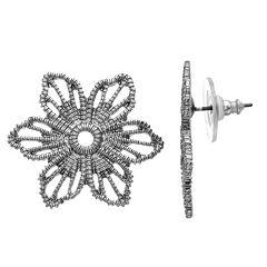 Simply Vera Vera Wang Flower Openwork Stud Earrings