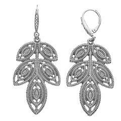 Simply Vera Vera Wang Leaf Chandelier Earrings