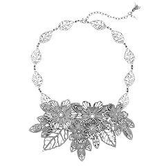 Simply Vera Vera Wang Flower Collar Necklace