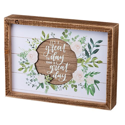 """Great Day"" Inset Box Sign"