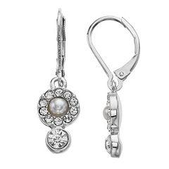 Simply Vera Vera Wang Simulated Pearl & Crystal Drop Earrings