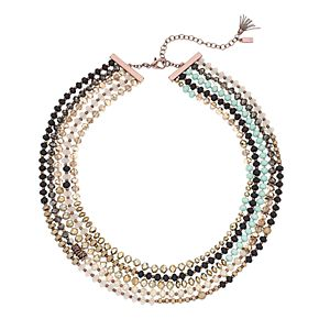 Simply Vera Vera Wang Beaded Multi Row Necklace