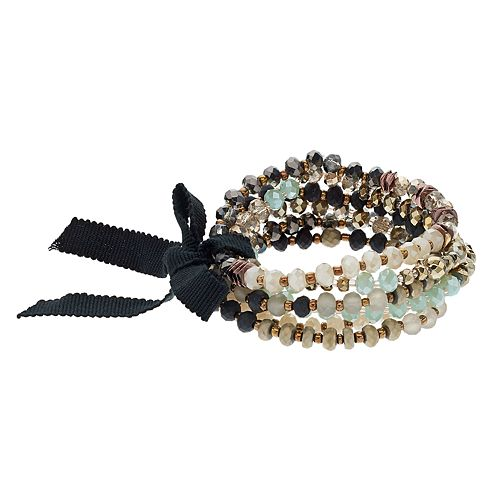 Simply Vera Vera Wang Beaded Stretch Bracelet Set