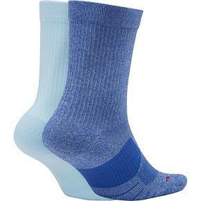 Men's Nike 2-pack Multiplier Crew Socks