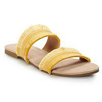 Deals on LC Lauren Conrad Coffee Women's Sandals